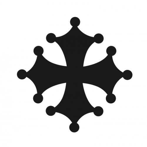 D cor m tal d cors muraux en m tal symboles regionaux croix occitane - Decors muraux exterieurs ...
