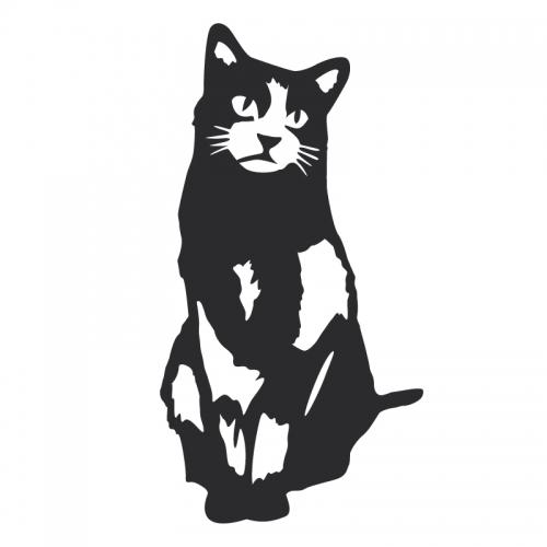 D cor m tal d cors muraux en m tal animaux chat 1 - Decors muraux exterieurs ...