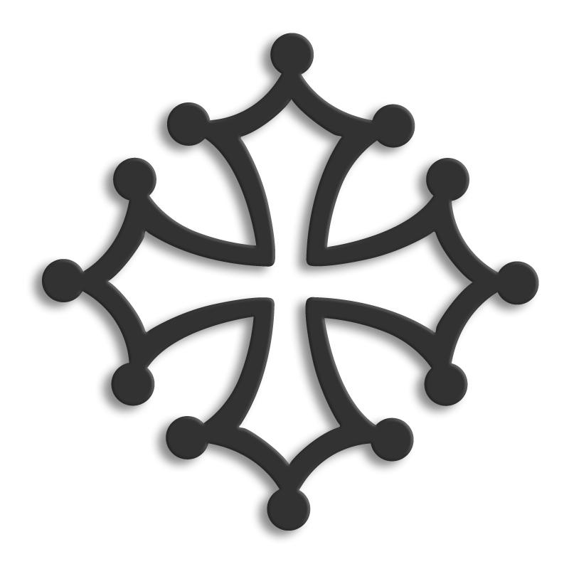 Fabuleux Décor Métal - Décors muraux en métal - Symboles Regionaux : croix  LE95