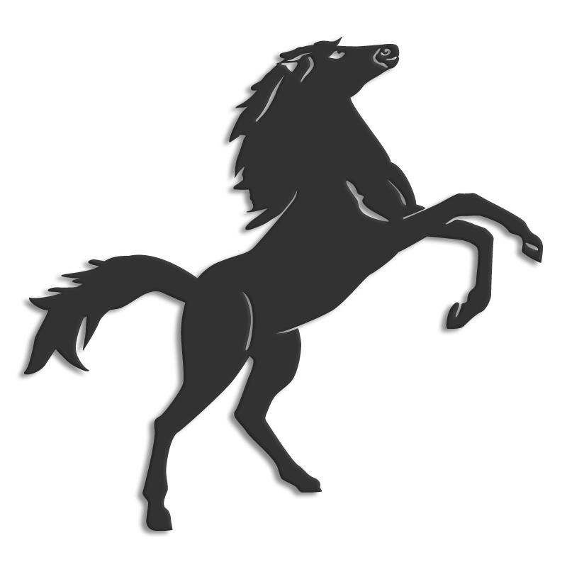 d cor m tal d cors muraux en m tal animaux cheval. Black Bedroom Furniture Sets. Home Design Ideas