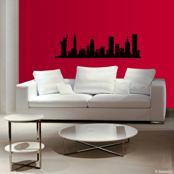 d cor m tal d cors muraux en m tal deco tendance ny skyline. Black Bedroom Furniture Sets. Home Design Ideas